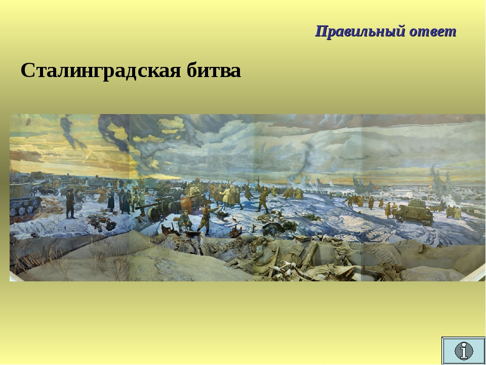 Правильный ответ Сталинградская битва