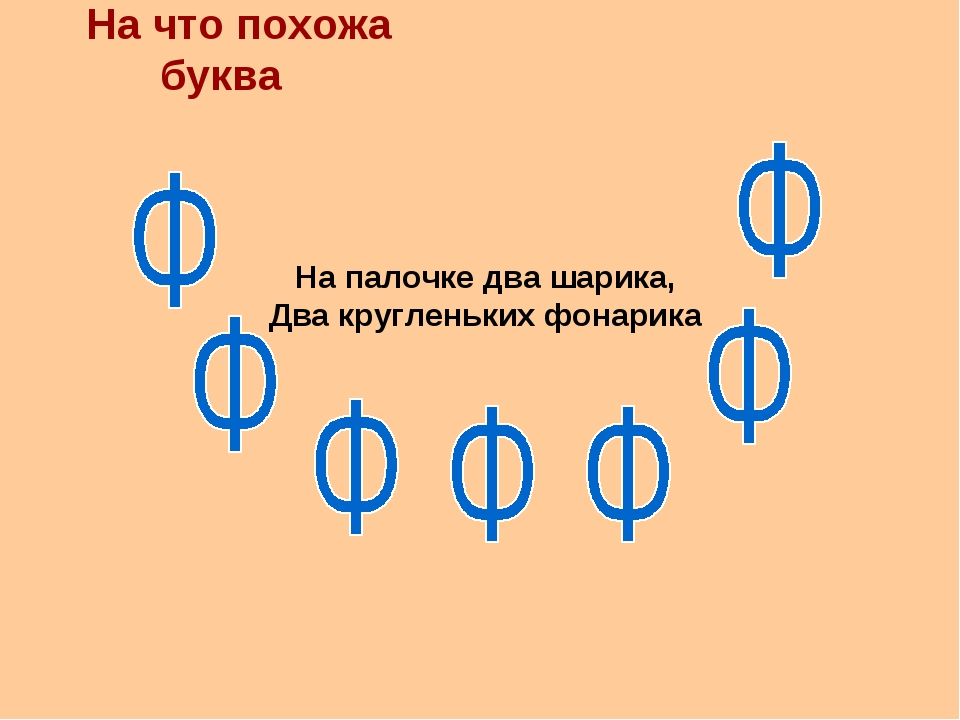 На что похожа буква На палочке два шарика, Два кругленьких фонарика