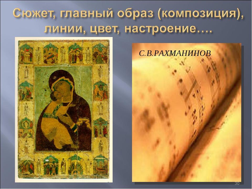 С.В.РАХМАНИНОВ *