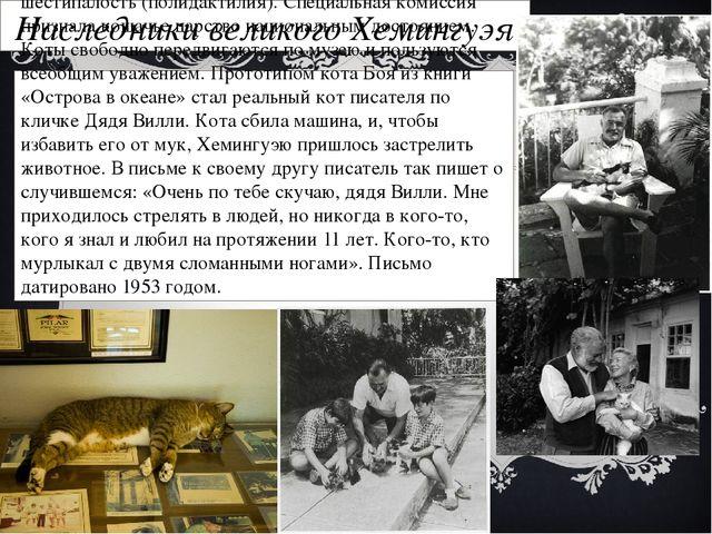 Наследники великого Хемингуэя В 1935 году друг писателя Стенли Декстер подари...