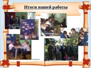 Итоги нашей работы Урок Мужества «Дети страшной той войны» Кушнаренко А. Г.