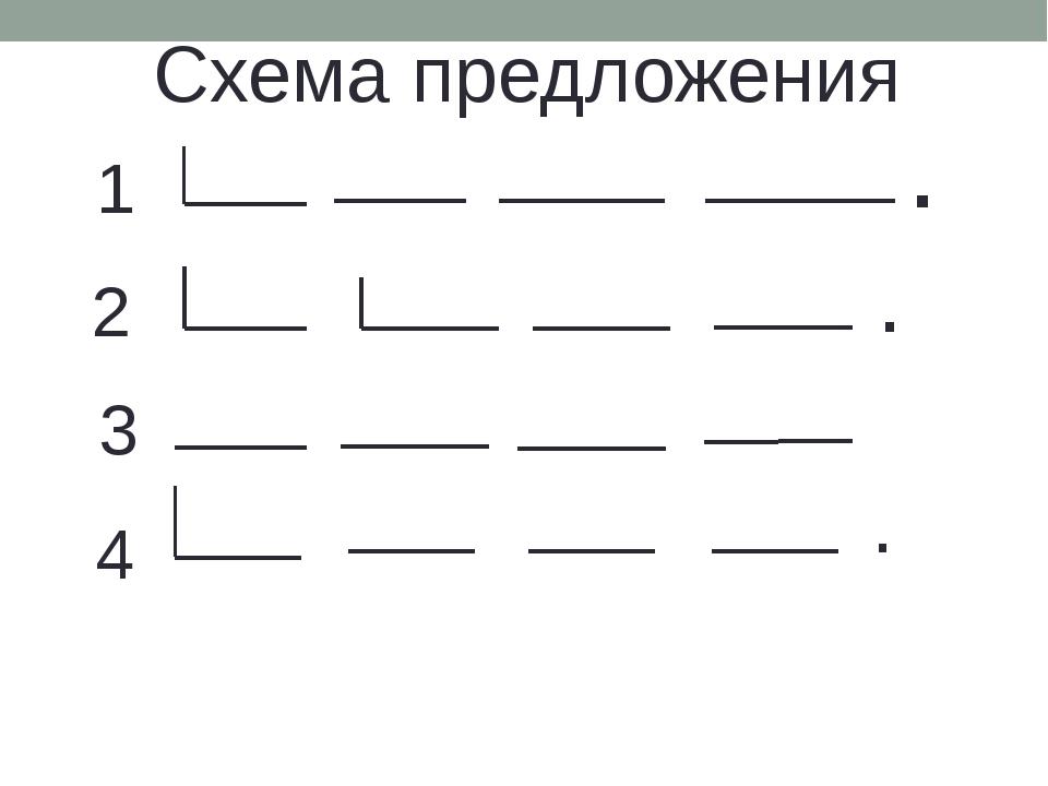 Днем, картинки схемы предложений для 1 класса