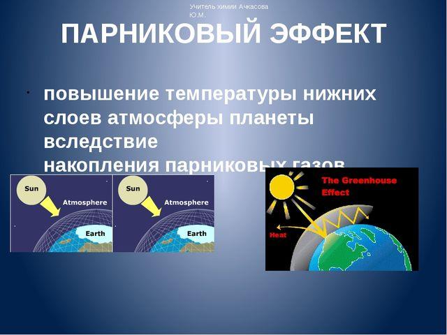 ПАРНИКОВЫЙ ЭФФЕКТ повышение температуры нижних слоев атмосферыпланеты вследс...