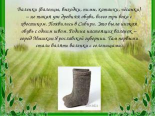 Валенки (валенцы, выходки, пимы, катанки, чёсанки) – не такая уж древняя обув