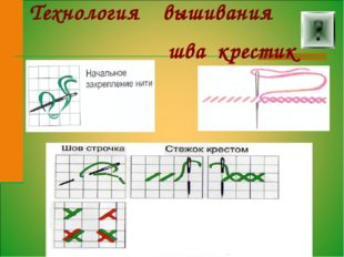 Технология вышивания шва крестик