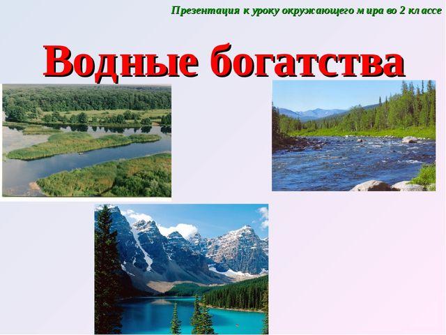 Водные богатства Презентация к уроку окружающего мира во 2 классе