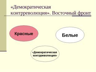 «Демократическая контрреволюция». Восточный фронт Белые Красные «Демократичес