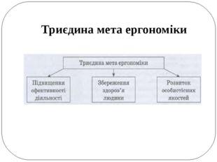 Триєдина мета ергономіки