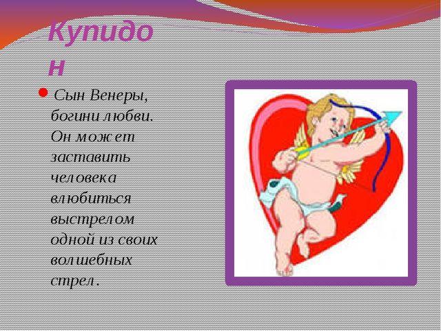 Купидон Сын Венеры, богини любви. Он может заставить человека влюбиться выстр...