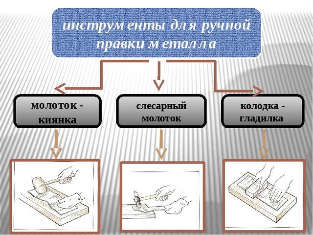 инструменты для ручной правки металла молоток - киянка слесарный молоток коло...