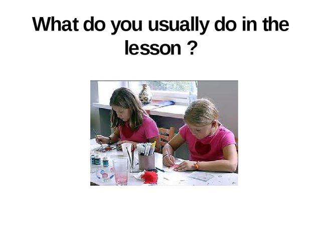 What do you usually do in the lesson ?