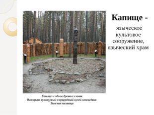 Капище и идолы древних славян Историко-культурный и природный музей-заповедни