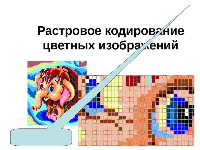 Растровое кодирование цветных изображений