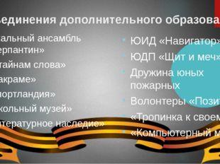 Объединения дополнительного образования Вокальный ансамбль «Серпантин» «К тай