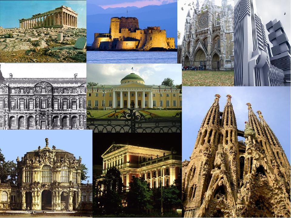 Картинки виды архитектуры