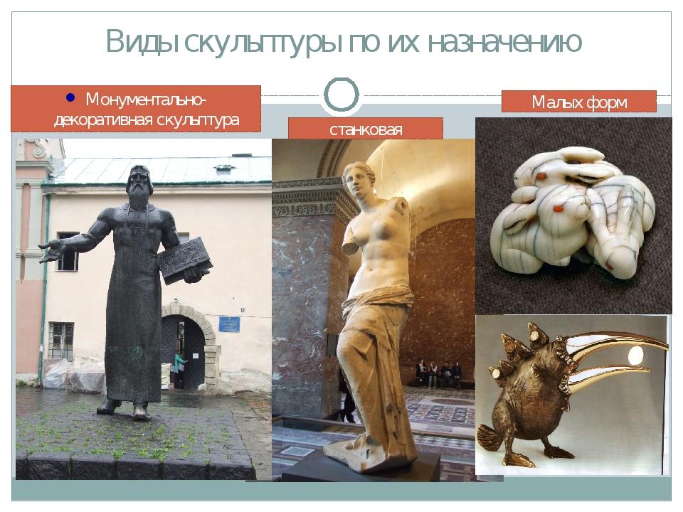 Виды скульптуры по их назначению Монументально-декоративная скульптура станко...