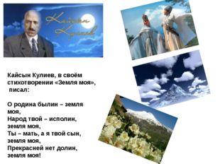 Кайсын Кулиев, в своём стихотворении «Земля моя», писал: О родина былин – зем