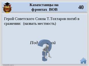 Под Москвой Герой Советского Союза Т.Тохтаров погиб в сражении: (назвать мест