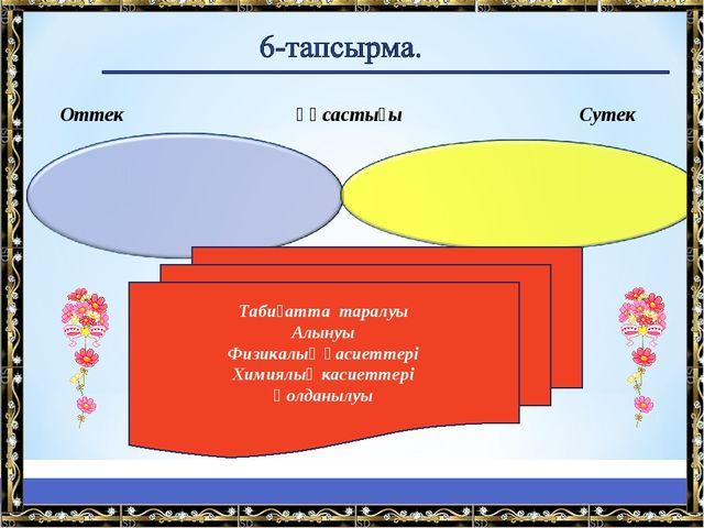 Оттек Ұқсастығы Сутек Табиғатта таралуы Алынуы Физикалық қасиеттері Химиялық...