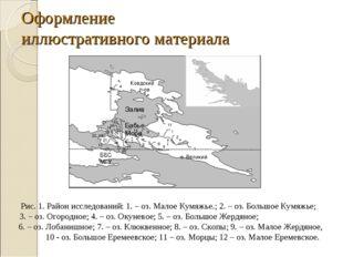 Оформление иллюстративного материала Рис. 1. Район исследований: 1. – оз. Мал
