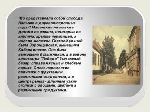 Что представляла собой слобода Нальчик в дореволюционные годы? Маленькие низ