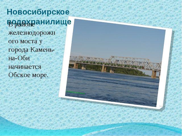 Новосибирское водохранилище В районе железнодорожного моста у города Камень-н...