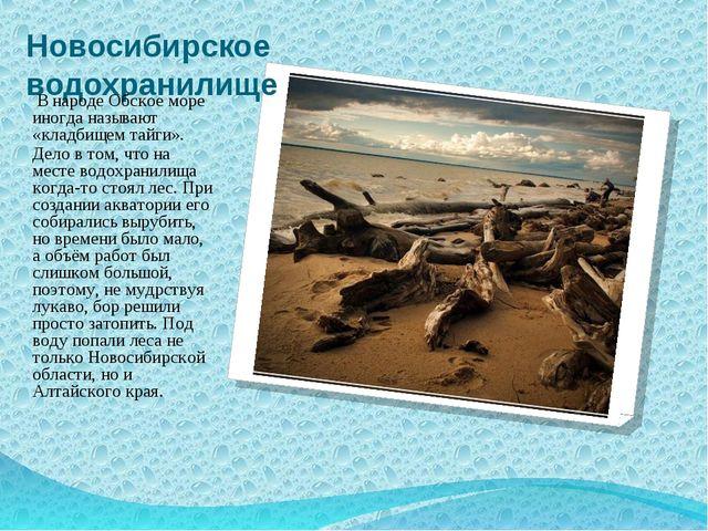 Новосибирское водохранилище В народе Обское море иногда называют «кладбищем т...
