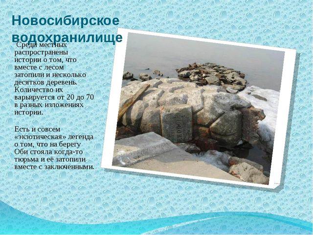 Новосибирское водохранилище Среди местных распространены истории о том, что в...