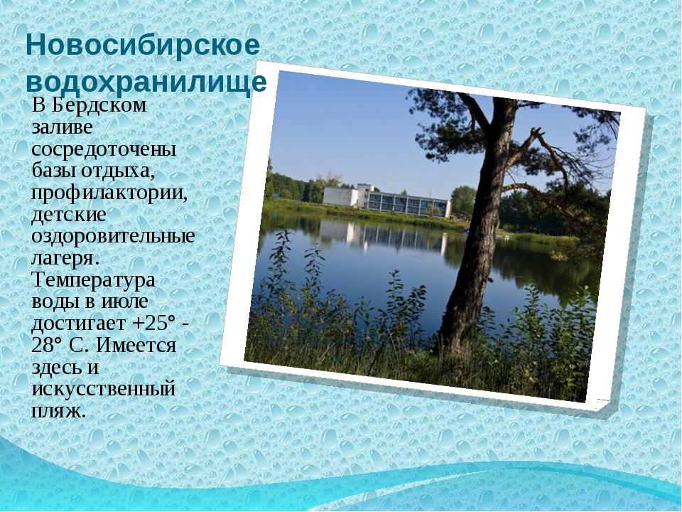 Новосибирское водохранилище В Бердском заливе сосредоточены базы отдыха, проф...