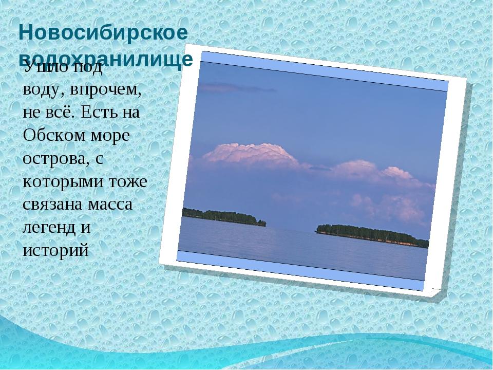 Новосибирское водохранилище Ушло под воду, впрочем, не всё. Есть на Обском мо...