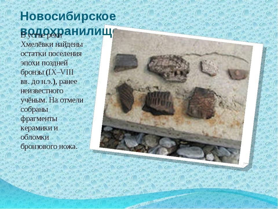 Новосибирское водохранилище В устье реки Хмелёвки найдены остатки поселения э...