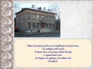 Лёша Толстой родился в студёный зимний день 10 января 1883 года, в этот день