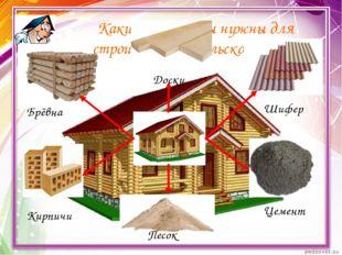 Какие материалы нужны для строительства сельского дома? Брёвна Доски Шифер Ки