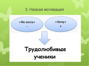 3. Низкая мотивация