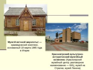 Музе́й ве́чной мерзлоты́— краеведческий комплекс, основанный 19 марта 1965 г