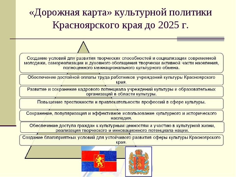 «Дорожная карта» культурной политики Красноярского края до 2025 г.