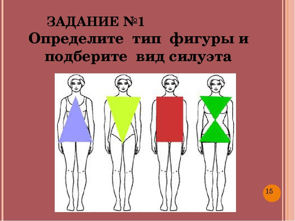 ЗАДАНИЕ №1 Определите тип фигуры и подберите вид силуэта