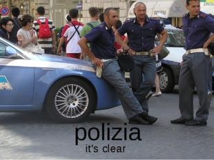 polizia it's clear