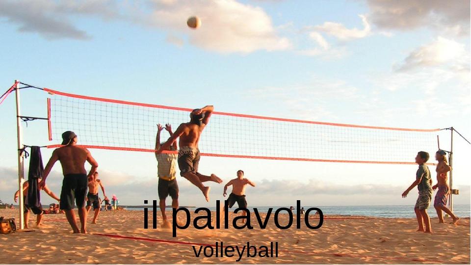 il pallavolo volleyball