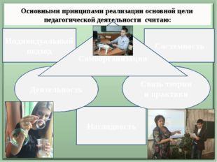 Основными принципами реализации основной цели педагогической деятельности сч