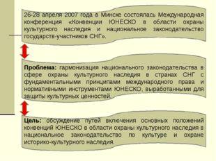26-28 апреля 2007 года в Минске состоялась Международная конференция «Конвенц