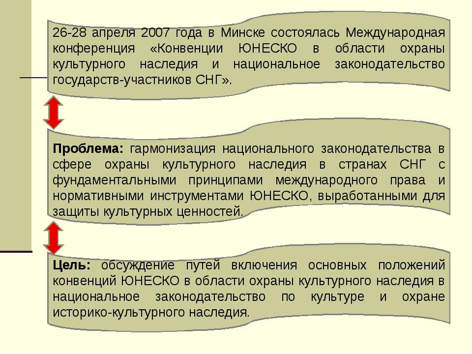 26-28 апреля 2007 года в Минске состоялась Международная конференция «Конвенц...