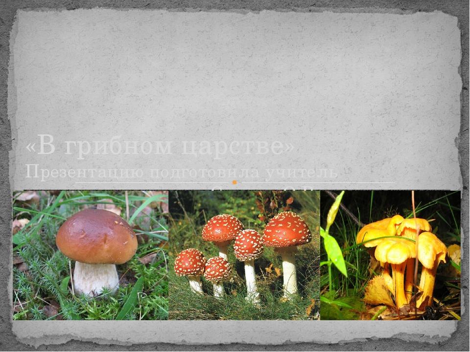 «В грибном царстве» Презентацию подготовила учитель начальных классов: Спасю...