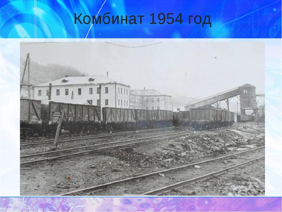 Комбинат 1954 год