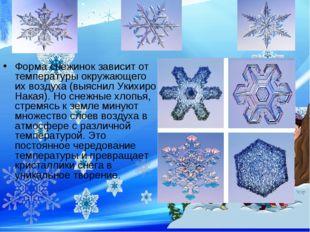 Форма снежинок зависит от температуры окружающего их воздуха (выяснил Укихиро
