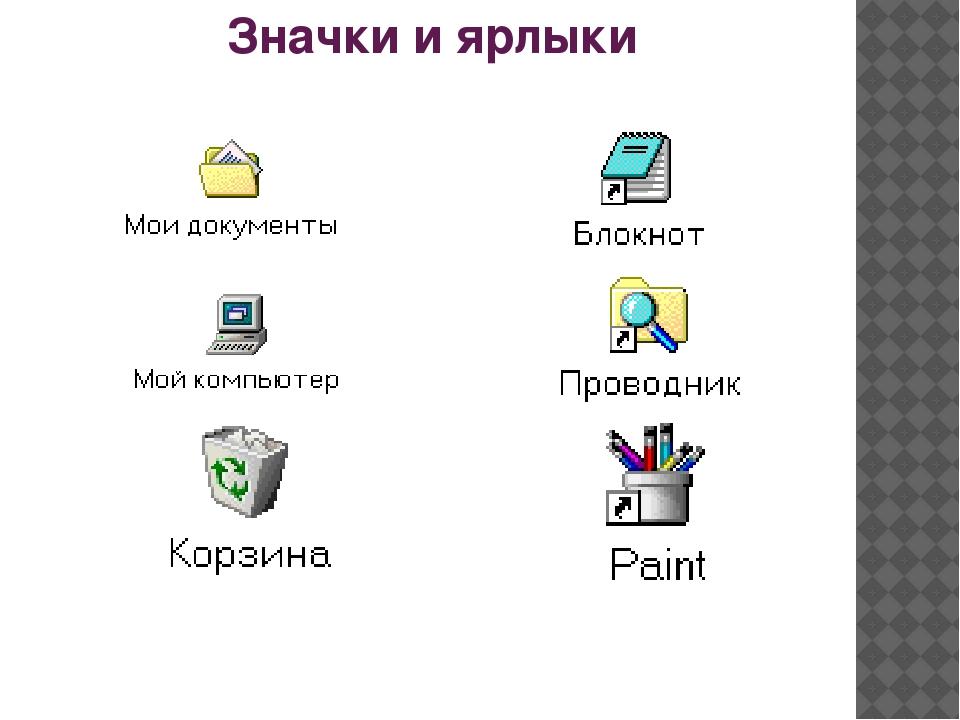 Значки и ярлыки