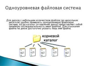 Для дисков с небольшим количеством файлов (до нескольких десятков) удобно при