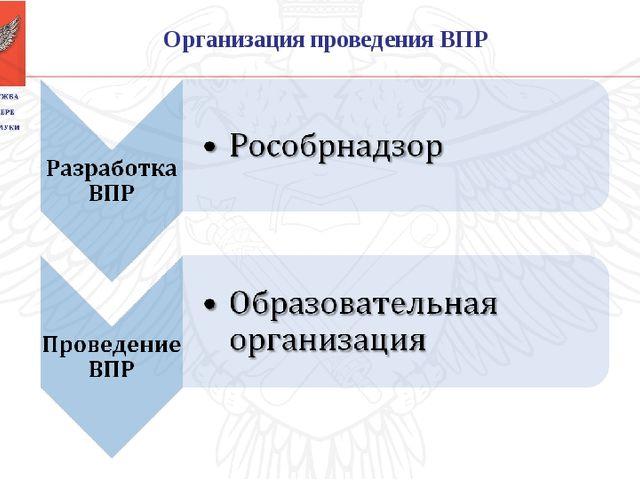Организация проведения ВПР