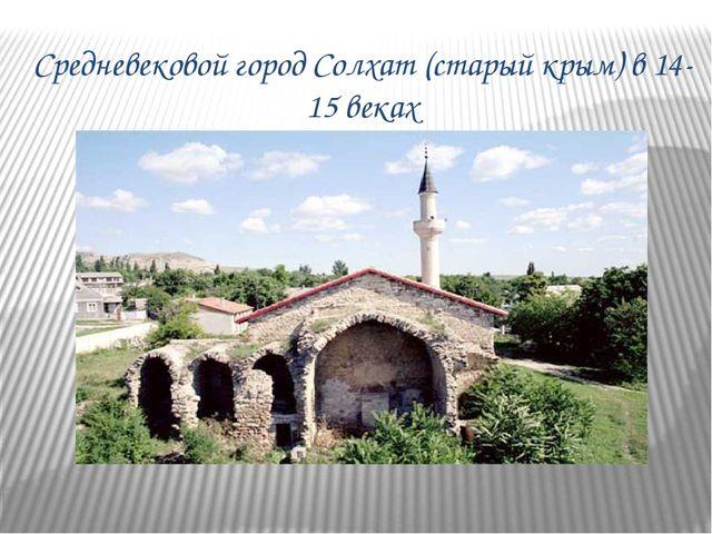 Средневековой город Солхат (старый крым) в 14-15 веках