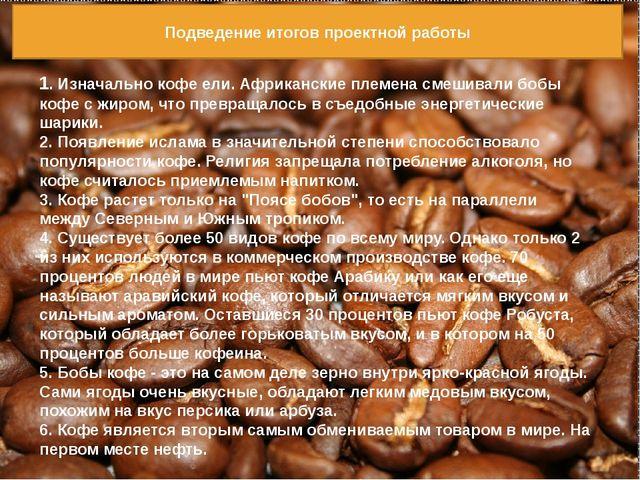 1. Изначально кофе ели. Африканские племена смешивали бобы кофе с жиром, что...